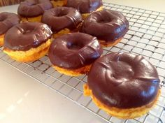 THM (S) Sour Cream Doughnuts (made with coconut flour) - dipped in choco ganache