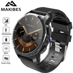 Makibes Dual chip Waterproof Smart Watch Phone Android Camera GPS Answer call SIM TF card-in Smart Watches from Consumer Electronics Cool Watches, Watches For Men, Smart Watch Price, Android Watch, Android Camera, Display Screen, Mechanical Watch, Watches Online, Automatic Watch