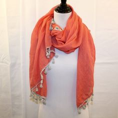 Orange Light Summer Scarf Orange Light Summer Scarf - bought at Lux Boutique * Never Worn. No Noted Flaws. * Bundles Available.  * Please see pictures & ask questions! * Sorry No Trades. Accessories Scarves & Wraps