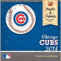 Chicago Cubs 2014 Box Calendar - MLB.com Shop