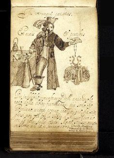 bifid figure drawn in the album of Johann Reichard in the 1640s -- image via the HAAB, Weimar