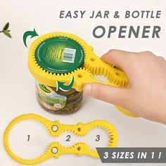 All-in-one Multi Jar Opener Lid Twist off Gripper AHuShi Jar Opener 6-in-1+5-in-1 Bottle Opener Matching with Most of Seals/&Lids Seniors Ideal for Children Arthritis Suffers