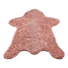 Stoer vloerkleed in de vorm van een berenvelletje van Kidsdepot.