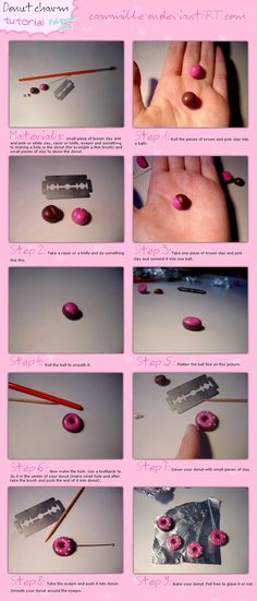 .Donut charm tutorial. by ~cammille-on on deviantART