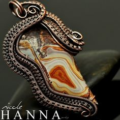 """Sonora Sunset"" Copper Pendant from Nicole Hanna Jewelry"