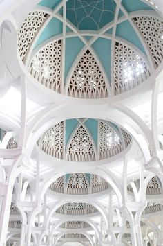 Light blue and white cathedral