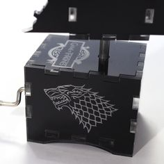 Game of Thrones Music Box - Dragonglass Iron Throne - Laser cut and laser engraved acrylic music box. Perfect gift, memorabilia or collectible