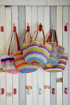 Cute crocheted bags: