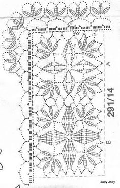 squares joined to form a doily