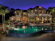 Beautiful luxury estate and pool.