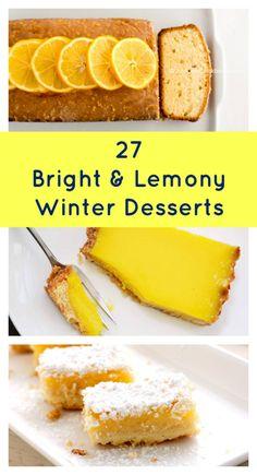27 Lemon Dessert Recipes to Brighten Your Winter