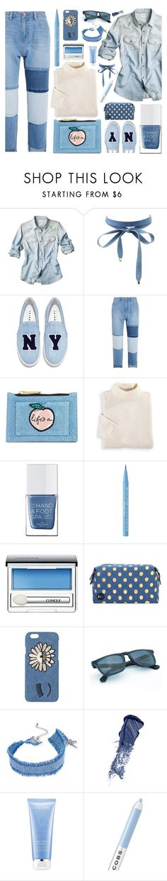 jeansstyle by style-heaven on Polyvore featuring moda, Blair, Steve J & Yoni P, Joshua's, Skinnydip, INC International Concepts, Charlotte Russe, Chiara Ferragni, Clinique and Too Faced Cosmetics