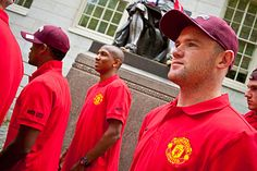 Wayne Rooney and his Manchester United teammates check out Harvard Yard