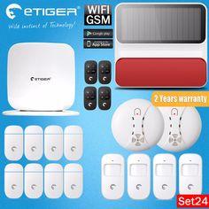 Home Design Etiger Secual Box V2 Smart Home  WIFI GSM Burglar Alarm System For Safety IOS Android APP Control Easy Installation
