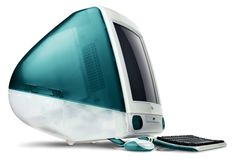 The original iMac integrated a CRT display and CPU into a streamlined, translucent plastic body. The line became a sales smash, moving about one million units each year. It also helped re-introduce Apple to the media and public, and announced the company's new emphasis on the design and aesthetics of its products.