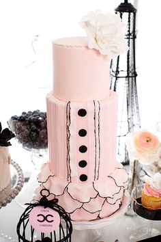 Coco Chanel Inspired Wedding Cake