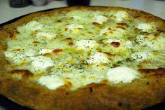 white pizza done closeup