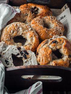Bagel, Granola, I Foods, Bread, Baking, Desserts, September, Recipes, Drinks