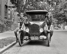 "June 13, 1922. Washington, D.C. ""Viola LaLonde and Elizabeth Van Tuyl."" Our second glimpse of these Jazz-Age vagabonds. National"