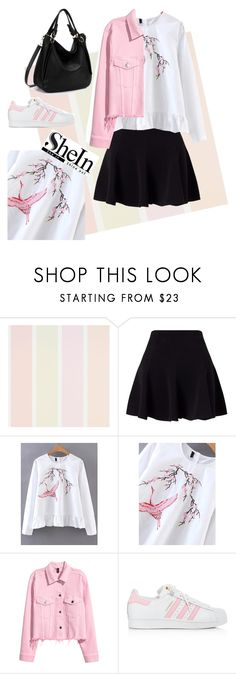 """""""SheIn Blouse"""" by tonia-ro ❤ liked on Polyvore featuring Miss Selfridge and adidas"""