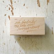 Beautiful hand-lettered return address stamp.