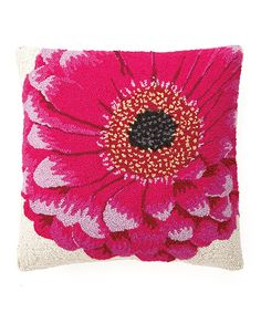 Look at this Pink Gerbera Hook Throw Pillow on #zulily today!
