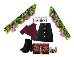 """""""Be Bold with Floral"""" by alfasahid on Polyvore featuring Campania International, Miu Miu, W118 by Walter Baker, Witchery and Yves Saint Laurent"""