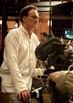 Quentin Tarantino on the set of Kill Bill