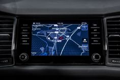 The 6.5-inch Skoda touchscreen includes Apple CarPlay and Android Auto