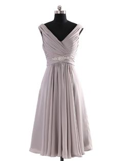 Amazon.com: Landybridal Women's A-line Knee Length Chiffon Bridesmaid Dress Bbal0058: Clothing