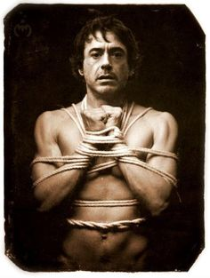 *Sends picture to friend*Me: This is how I like my men…tied up ;)Friend: Why would he even pose like that…feeding young girls fantasies everywhere!Me: Shhhh…it's okay. We all fantasize about Robert Downey Jr.Friend: *Facepalm*
