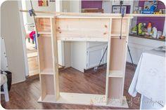 Faux Fireplace Shelves
