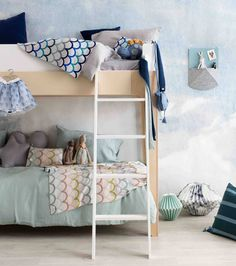 5 Kids Rooms with a Subtle and Stylish Ocean Theme http://petitandsmall.com/5-kids-rooms-subtle-stylish-ocean-theme/