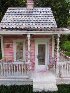 My Mini Hobby: Day 92: Shabby Chic Cottage outside photoshoot