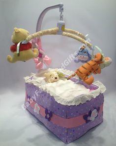 Bassinet Diaper Cake http://babyfavorsandgifts.com/bassinet-diaper-cake-p-76.html