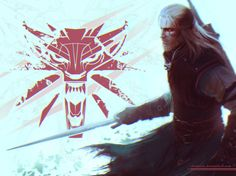 Geralt from Witcher 3: Wild Hunt. Hope you'll like the picture and no using it without my permission.