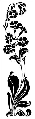 Motif No 61 stencil from The Stencil Library ART NOUVEAU range. Buy stencils online. Stencil code DE251.