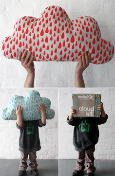 Love this cloud cushion I like this cushion because of the cloud shape and the patterns. Visita www.amamillo.com