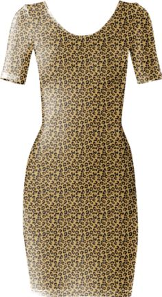 Leopard Short Sleeved Bodycon Dress - Available Here: http://printallover.me/products/0000000p-leopard-79