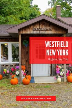 Looking for Buffalo day trip ideas? Visit Westfield Village. Discover   things to do in Westfield, New York. #Westfield #Buffalo #NewYorkState Stuff To Do, Things To Do, Weekend Breaks, Day Trip, Bed And Breakfast, Small Towns, Buffalo, Outdoor Structures, York