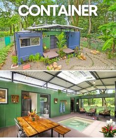 Houses-From-Recycled-Shipping-Containers Sea Containers, Sea Container Homes, Building A Container Home, Container Buildings, Container House Design, Container Van, Shipping Container Home Designs, Shipping Containers, Kombi Trailer