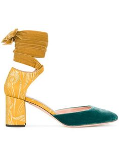 velvet ankle tie heels