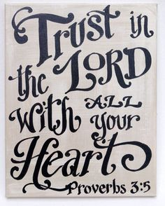 Trust In The Lord Original Painted Canvas - scripture art - custom quote on Etsy, $38.00