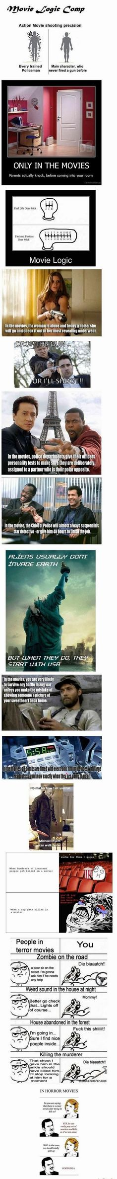 Hilarious Pictures of the week -55 pics- Movie Logic (Compialtion)