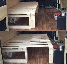 Diy pallet bed - 35 Creative DIY Pallet Project Idea for Your RV – Diy pallet bed Pallet Futon, Diy Pallet Bed, Diy Pallet Furniture, Diy Pallet Projects, Pallet Bar, Wooden Futon, Wooden Furniture, Pallet Headboards, Pallet Benches