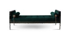 Koket Privê modern sofa design - Home Design Furniture Board, Bench Furniture, Furniture Styles, Furniture Design, Sofa Bench, Bench Stool, Luxury Furniture, Chair, Day Bed Decor