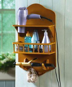 hubby has new tools. & Hair Dryer Bathroom Storage Caddy OMG I need something like this ...