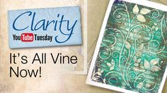 So fun! Gelli printing with Barbara Gray and ClarityStamp Stencils!! Gelli Plate How To - It's All Vine Now