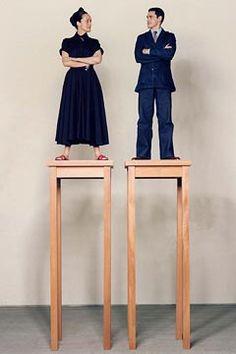 Fashion designer and illustrators, Isabel & Ruben Toledo.  Photographed  by Karl Lagerfeld.