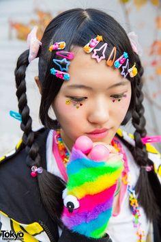 #Harajuku street #japan fashion #kawaii hair&make-up #decora kei